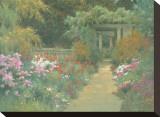 Italian Garden Stretched Canvas Print by Allan Myndzak
