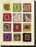Oriental Fragments Sträckt kanvastryck av David Hewitt