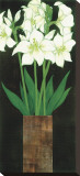 Perfect White Lilies Stretched Canvas Print by R. Rafferty