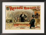 The Rossow Midgets Boxing Match Theatre Poster Art by  Lantern Press