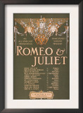 """Shakepeare's Sublime Tragedy """"Romeo & Juliet"""" Poster Posters by  Lantern Press"""