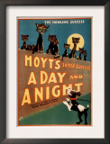 """""""A Day and a Night"""" Cats and Dogs Musical Poster Print by  Lantern Press"""