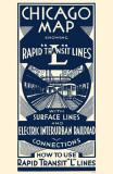Chicago Map Rapid Transit Lines Mestertrykk