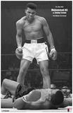 Ali vs Liston Black and White Mestertrykk