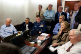 President Obama before statement to the media of the mission against Osama bin Laden, May 1, 2011 写真