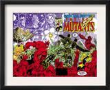 New Mutants Special Edition 1 Cover: Warlock, Wolfsbane, Magik and New Mutants Arte por Arthur Adams