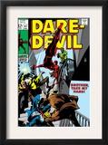 Daredevil 47 Cover: Daredevil Swinging Prints by Gene Colan