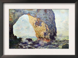 The Rocky Cliffs of retat (La Porte Man) Poster por Claude Monet