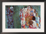 Death and Life Arte por Gustav Klimt
