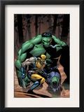 Incredible Hulk 80 Cover: Wolverine and Hulk Art by Lee Weeks