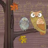 Awesome Owls IV Schilderij van Paul Brent