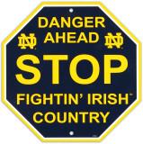 University of Notre Dame Stop Sign Vægskilt