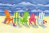 Brighton Chairs Kunstdrucke von Paul Brent