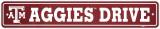 Texas A&M University Street Sign Vægskilt