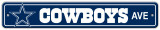 NFL Dallas Cowboys Street Sign Wall Sign