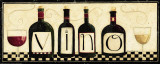 Vino Print by Dan Dipaolo