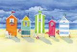 Hütten in Brighton Kunstdruck von Paul Brent