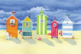 Brighton Huts Print by Paul Brent