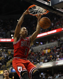 Chicago Bulls v Indiana Pacers - Game Four, Indianapolis, IN - APRIL 23: Derrick Rose Foto af Jonathan Daniel