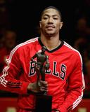 Atlanta Hawks vs. Chicago Bulls - andet spil, Chicago, Illinois - 4. maj: Derrick Rose Foto af Jonathan Daniel