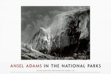 Half Dome, Blowing Snow, Yosemite National Park, c.1955 Poster af Ansel Adams