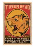 Tiger Head Safety Matches Láminas