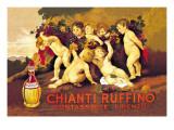 Chianti Ruffino Cherub Angels Kunstdrucke von Leopoldo Metlicovitz