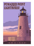 Pemaquid Lighthouse Sunset - Maine Posters by  Lantern Press