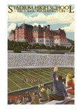 Tacoma, Washington - Stadium High School Poster av  Lantern Press