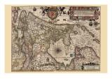 Holland & the Zuider Zee Poster von Pieter Van der Keere