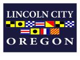 Lincoln City, Oregon - Nautical Flags Prints by  Lantern Press