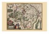 Karte von Luxembourg Kunst von Pieter Van der Keere