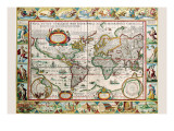 Karte von the Amerikas Poster von Peter Van der Keere