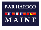 Bar Harbor, Maine - Nautical Flags Prints by  Lantern Press