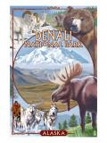 Denali National Park, Alaska - Park Views Lámina giclée prémium por  Lantern Press