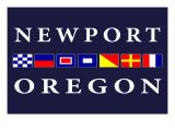 Newport, Oregon - Nautical Flags Posters by  Lantern Press
