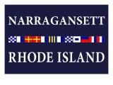 Narragansett, Rhode Island - Nautical Flags Print by  Lantern Press