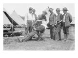 Regimental Barber Shaves the Troops Prints