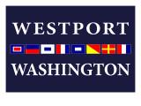 Westport, Washington - Nautical Flags Prints by  Lantern Press