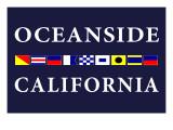 Oceanside, California - Nautical Flags Print by  Lantern Press