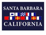 Santa Barbara, California - Nautical Flags Posters by  Lantern Press