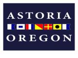 Astoria, Oregon - Nautical Flags Prints by  Lantern Press
