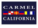 Carmel, California - Nautical Flags Prints by  Lantern Press