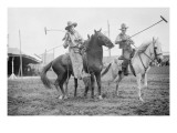 Wild West Polo Played By Cowboys on Horses at Coney Island Giclée-Premiumdruck