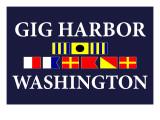 Gig Harbor, Washington - Nautical Flags Print by  Lantern Press