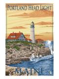 Portland Head Light - Portland, Maine Art by  Lantern Press