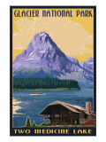 Two Medicine Lake - Glacier National Park, Montana Póster por  Lantern Press