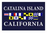 Catalina Island, California - Nautical Flags Posters by  Lantern Press