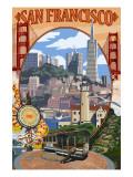 San Francisco, California Scenes Pôsters por  Lantern Press
