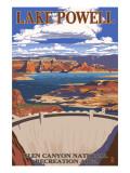 Lake Powell Dam View Art by  Lantern Press